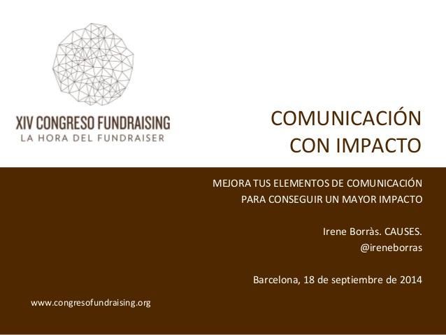 Comunicació amb impacte – Taller Congrés AEFr